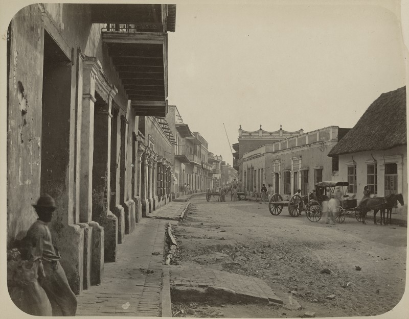 Baranquilla, c. 1894. Attributed to Ernesto Duperly. Albumen print.