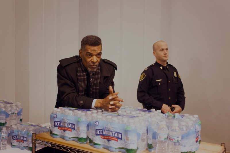 Flint councilman Eric Mays -Flint City Council Water Emergency Panel, State Business Chapter I - Emergency Managers, Michigan, USA, 2017