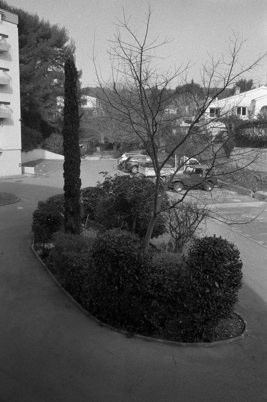 Apolline Lamoril, The Island in The Parking Lot, January 2016, from the Martine in Bandol series, 2017