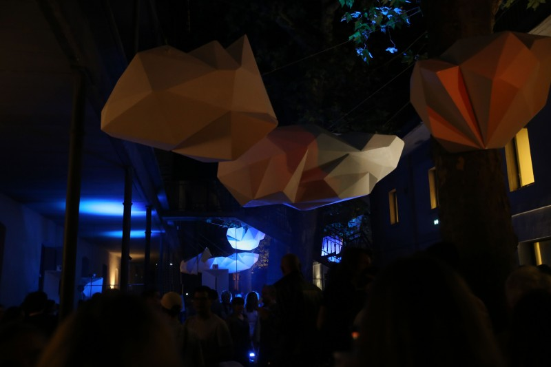 Exterior scenography of VR Arles Festival, Arles, 2017