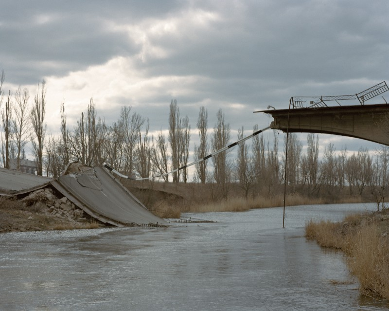 Wiktoria Wokciechowska, A bridge in Semenivka – one of the first front lines