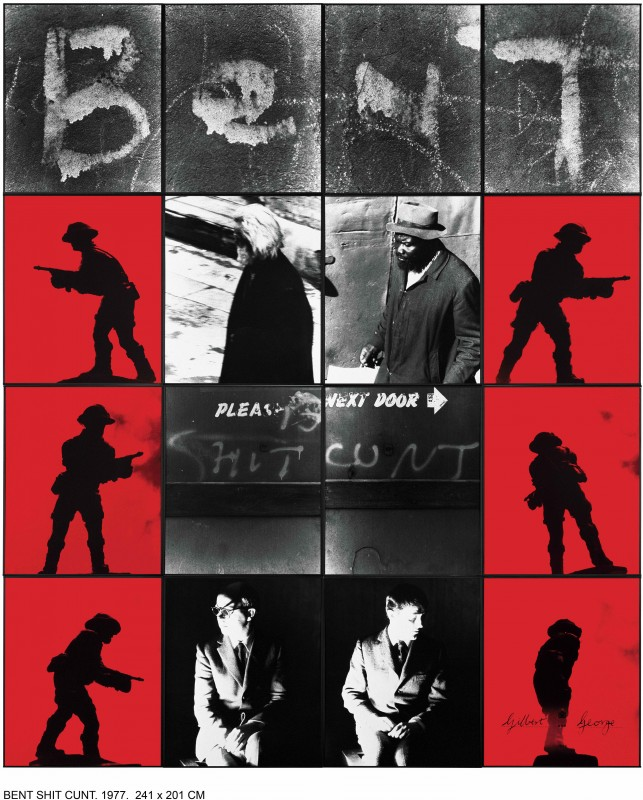 Gilbert & George, BENT SHIT CUNT, 1977
