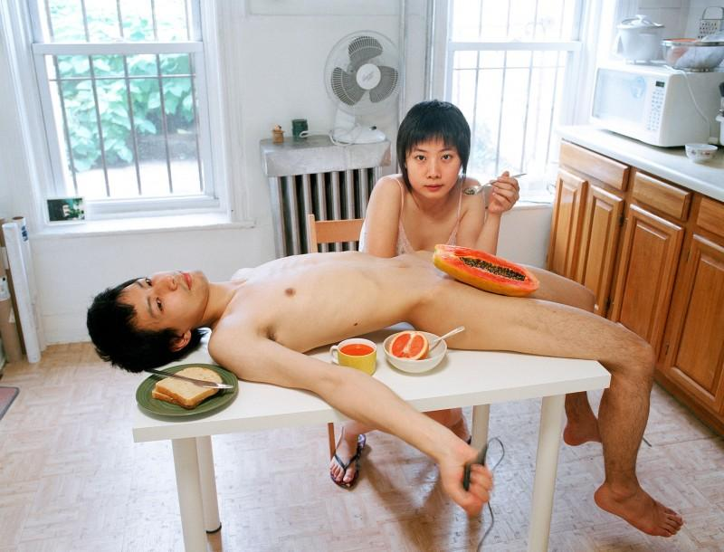 Pixy Liao, Start your day with a good breakfast together, from the Experimental Relationship series, 2009. Courtesy of the artist.