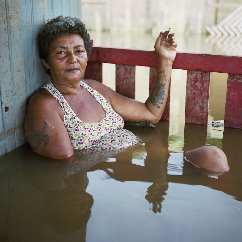 Francisca Chagas dos Santos, Taquari District, Rio Branco, Brazil, March 2015, from the Submerged portraits series