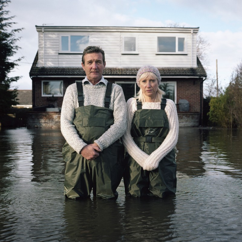 Jeff and Tracey Waters, Staines-upon-Thames, Surrey, UK, February 2014, from the Submerged portraits series